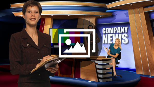 Virtual TV Newscast Set Artwork Album